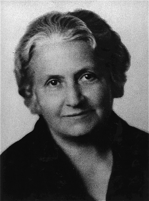 Photo of Maria Montessori circa 1930. Free use, source: http://www.montessoricentenary.org/